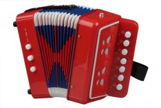 Accordeon rood 7 knoptoetsen Small Foot