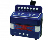 Accordeon blauw 7 knoptoetsen Small Foot